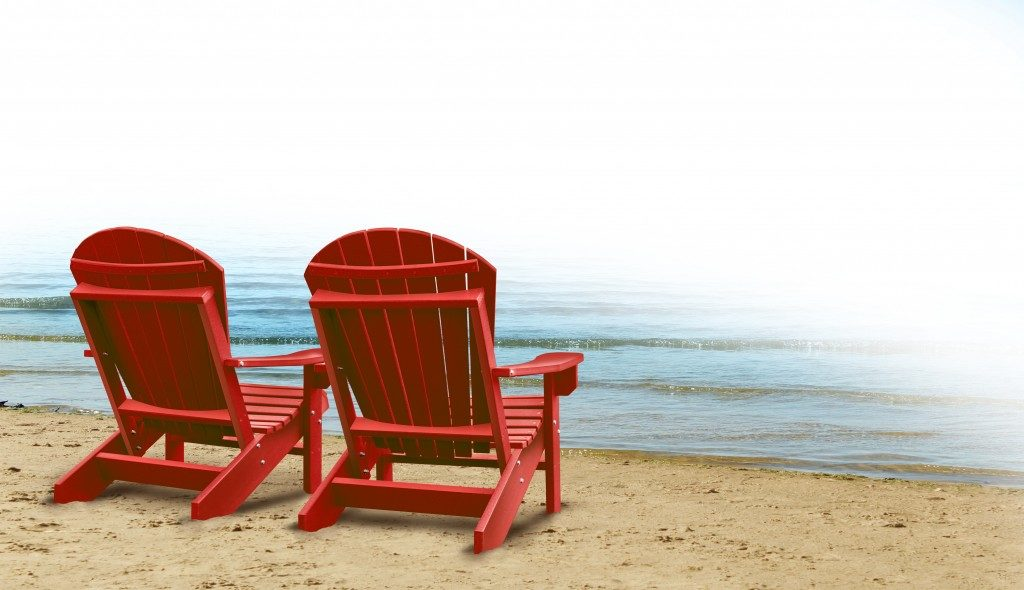 Couple's beach chair for partners going on a vacation together
