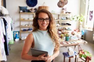 business owner inside her shop