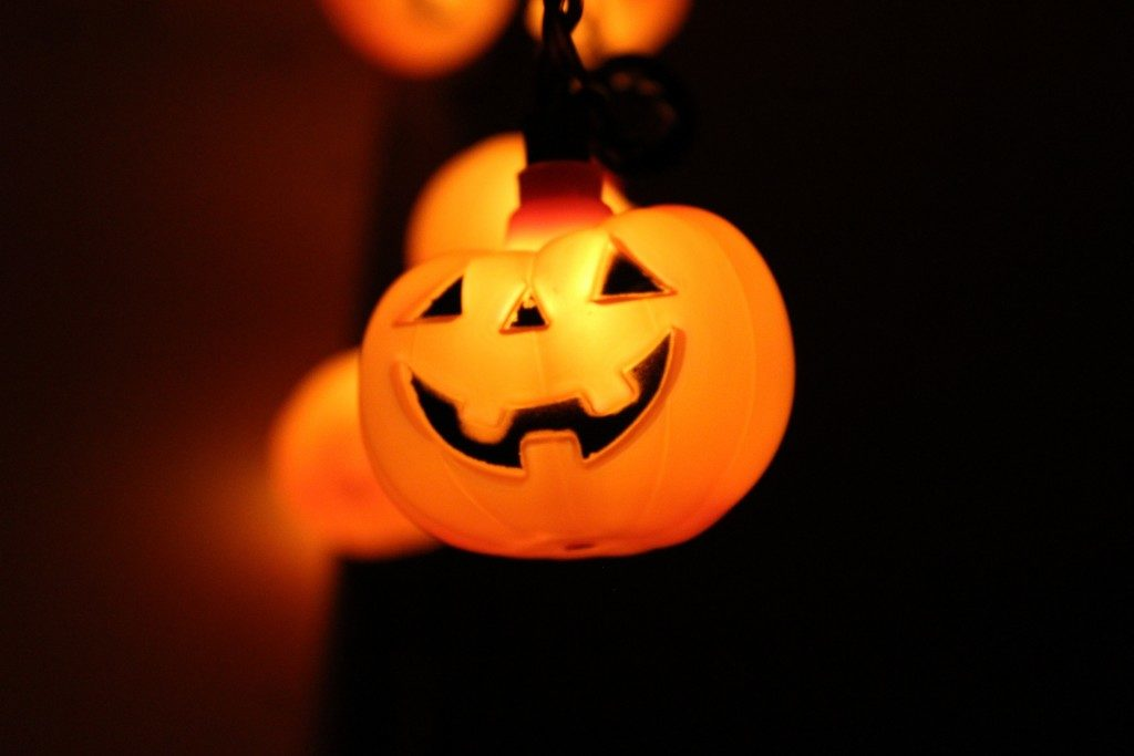 Halloween pumpkin lights