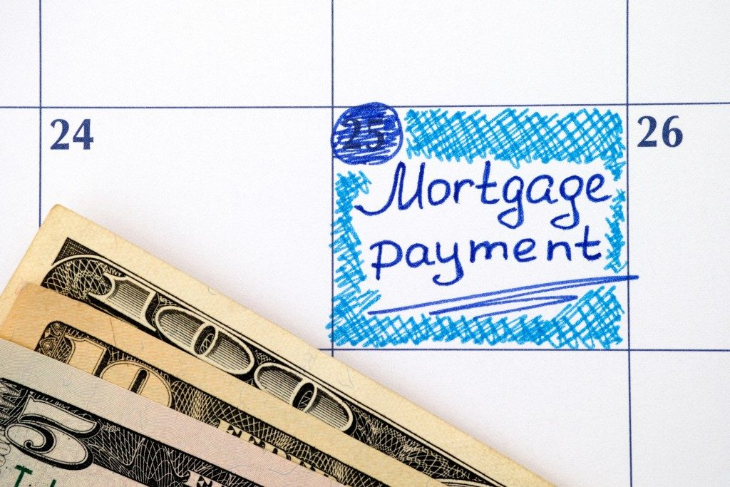 Reminder Mortgage Payment in calendar