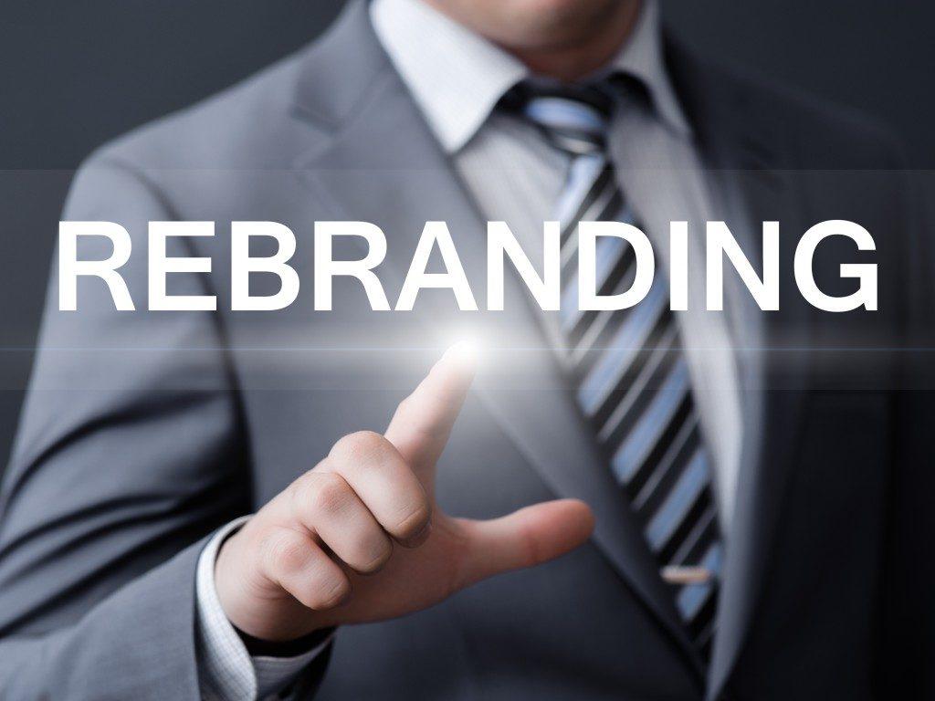 Pressing a futuristic rebranding button