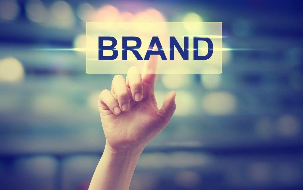 Brand button