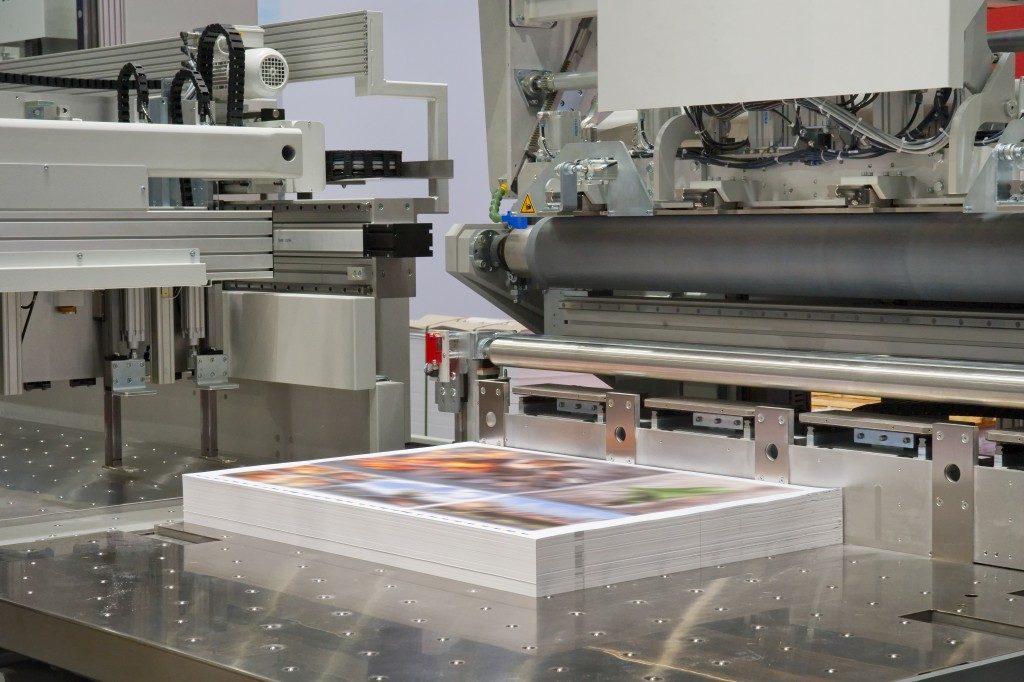 business paraphernalia being printed