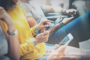 people with mobile devices