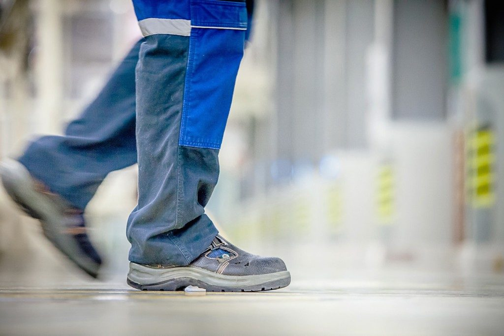 employee worker boots and attire