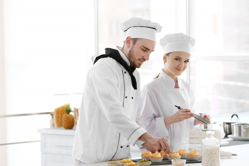 two chefs baking