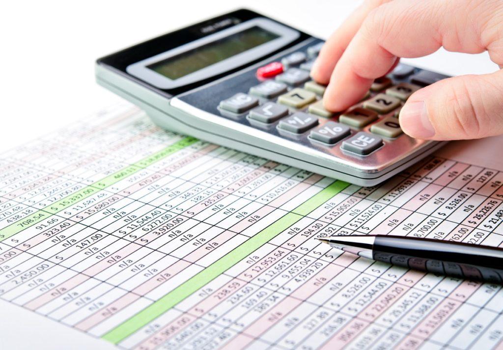 person computing taxes