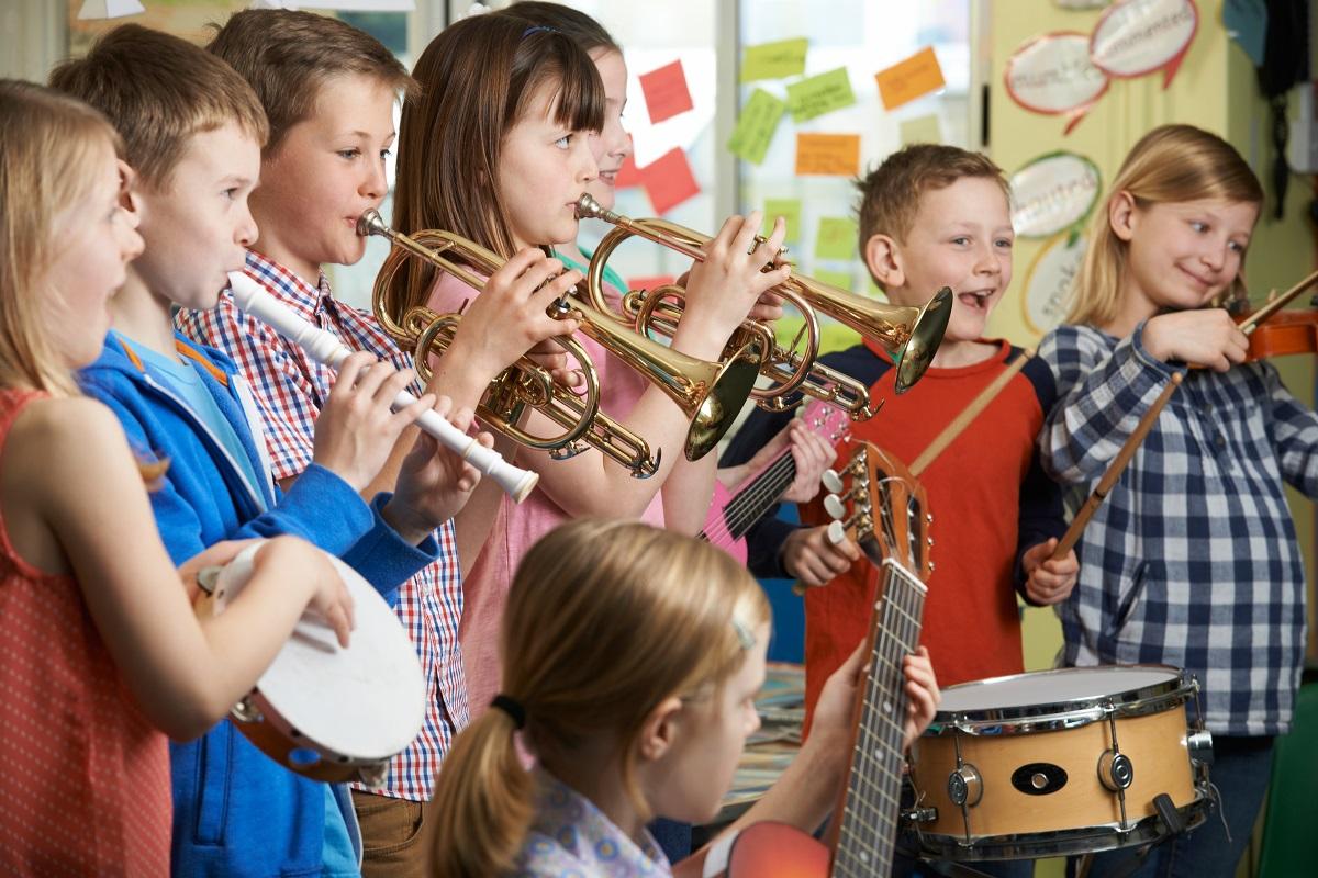at a music class