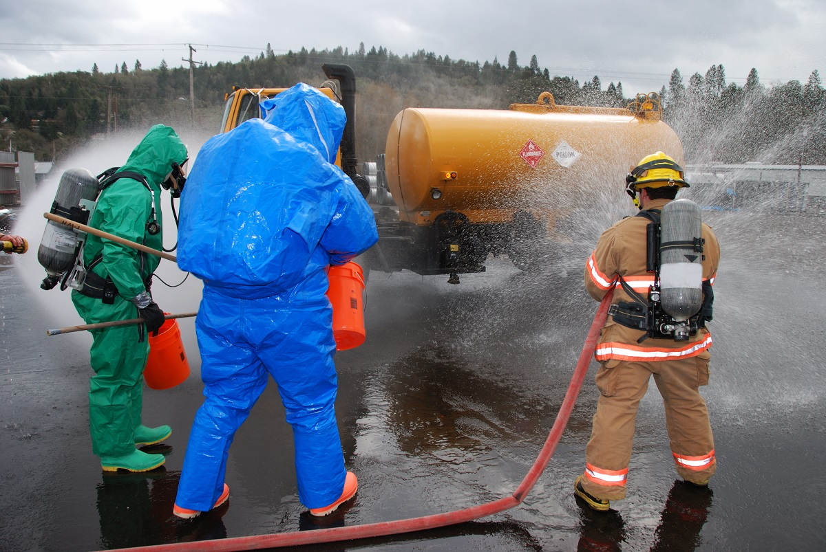 Cleaning hazardous spills
