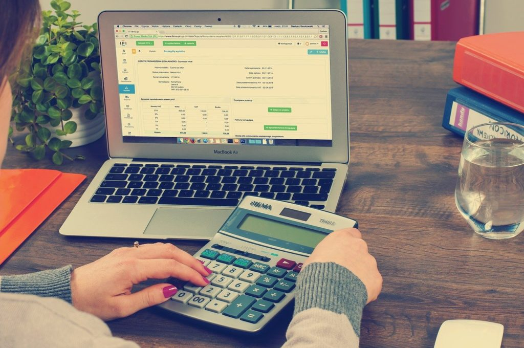 woman doing her finances