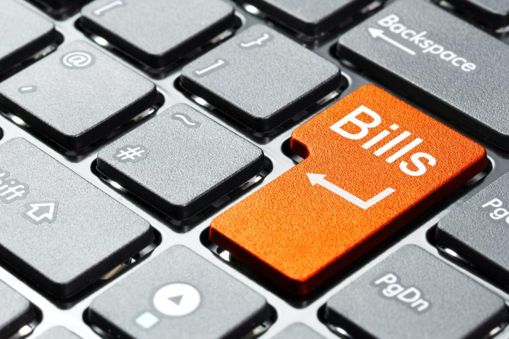 Bills key on keyboard