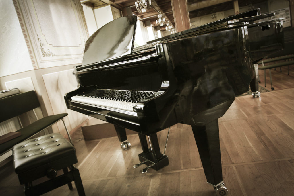 concert piano at the studio