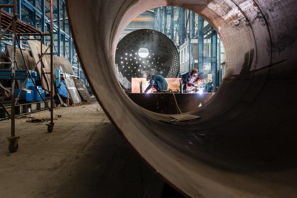 man welding equipments