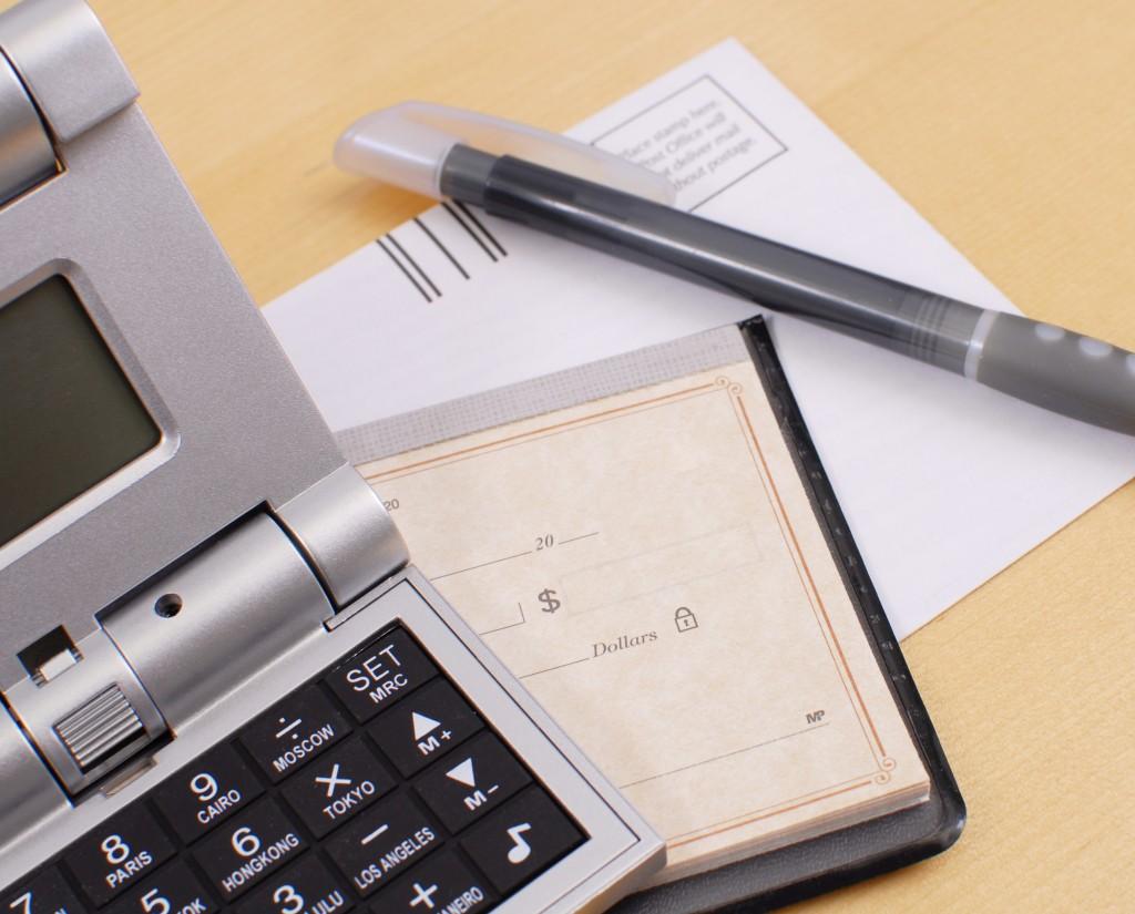 balancing a checkbook concept