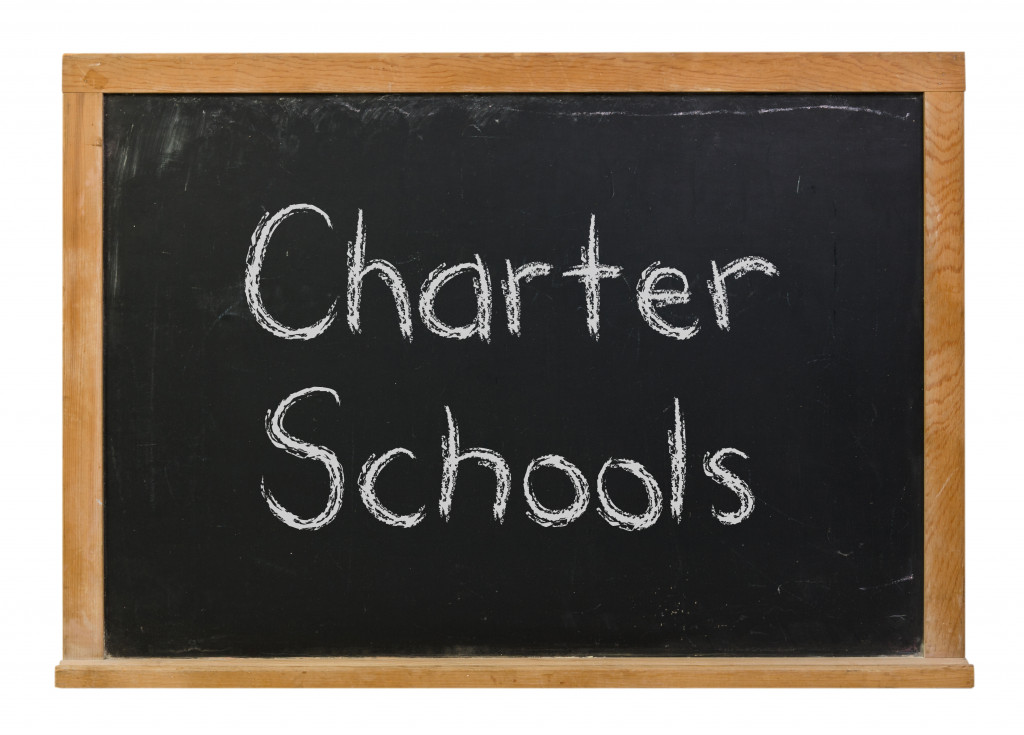 A board with Charter School note